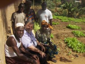 Familieportret van een naburige groenteteler